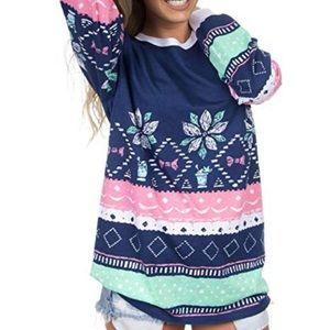 Lauren James Christmas Sweater Tee Sz S ::ZZ1